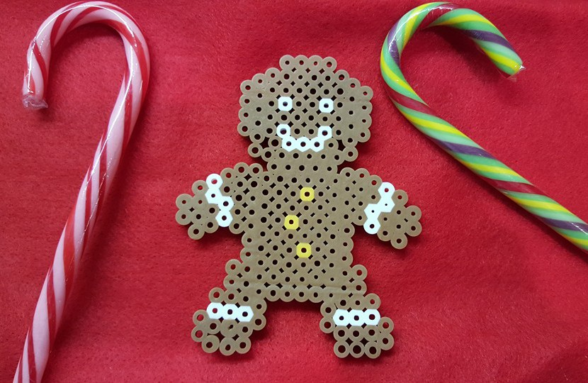 holiday craft with fuse beads