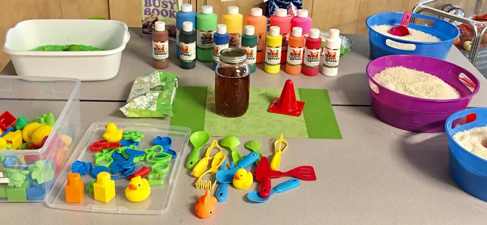 How to create colorful sensory bins