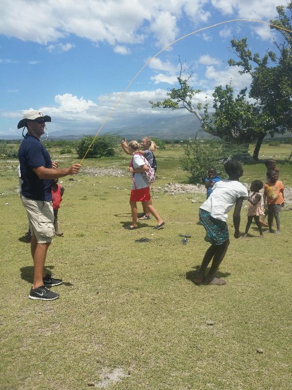 Playing with Children in Haiti