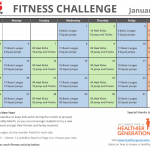 January Printable Fitness Challenge Calendar