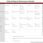 June Daily Holidays & Observances Printable Calendar