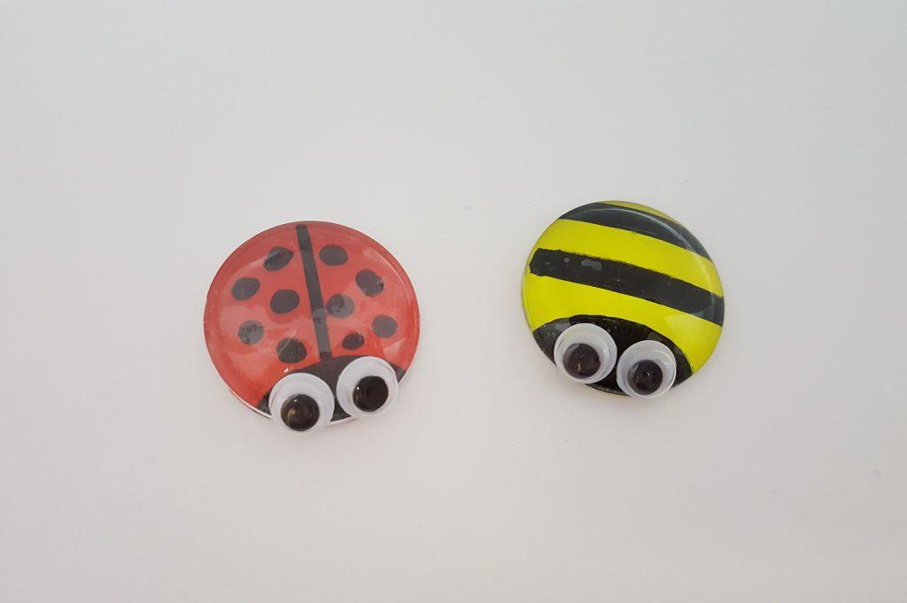 Ladybug and Bee pieces