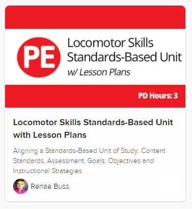 Locomotor Skills unit PD course