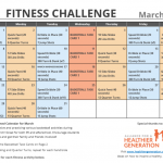 March Printable Fitness Challenge Calendar