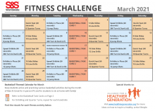 March Fitness Challenge Calendar 2021