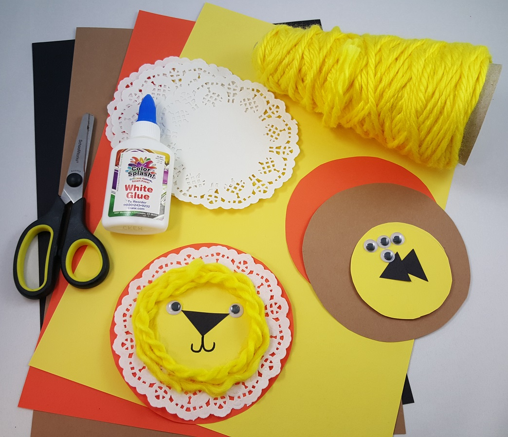 doily lion craft