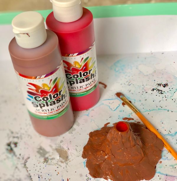 Mini Clay Volcano Paint