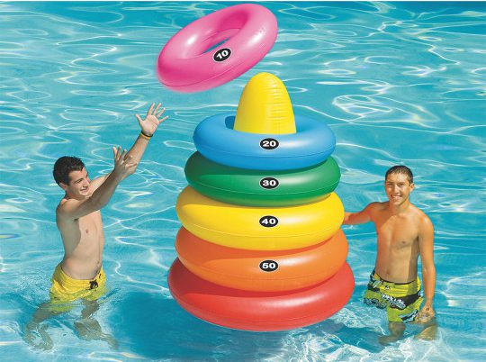 jumbo rainbow pool toss