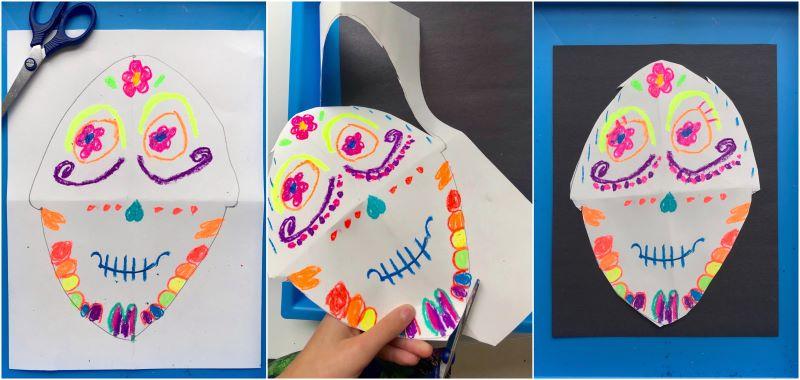 Neon Sugar Skull Art
