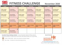 November 2020 Fitness Challenge Calendar