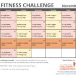 November Printable Fitness Challenge Calendar