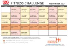 November Fitness Challenge Calendar 2021