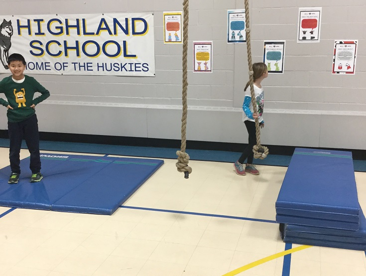 obstacle course for physed