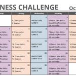 October Printable Fitness Challenge Calendar