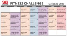 October 2019 Fitness Challenge Calendar 2