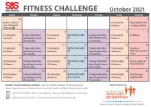 October 2021 Fitness Challenge Calendar