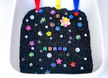 Outer Space Themed Sensory Bin