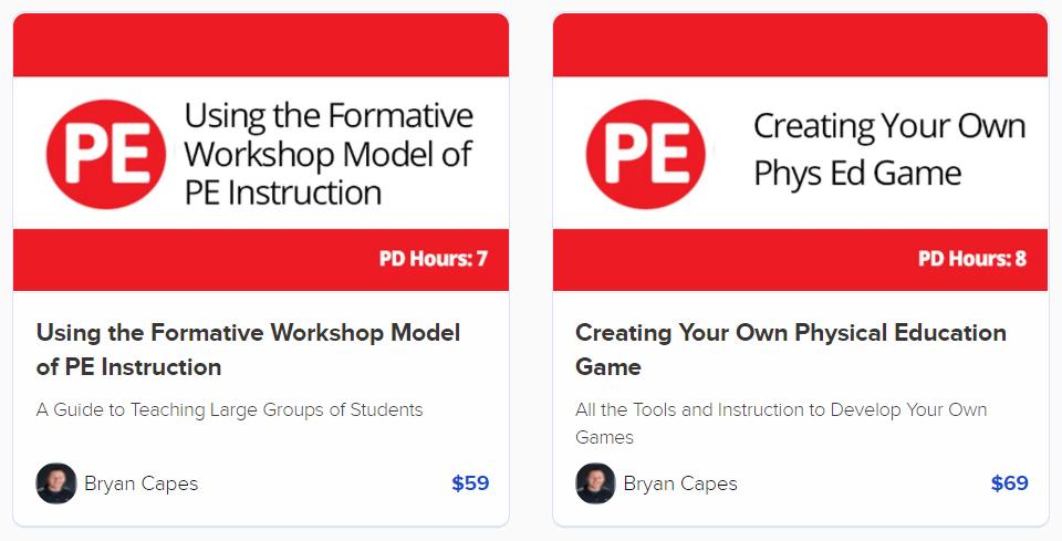 PD courses PE