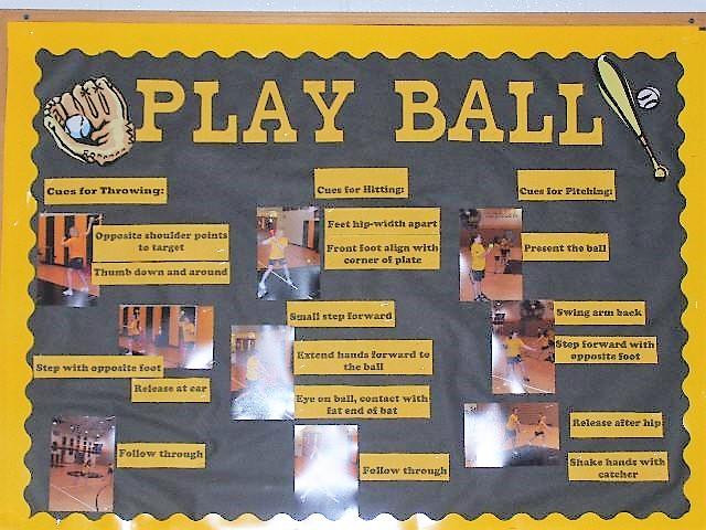 Baseball physed board