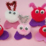 Valentine Craft with Pom Poms