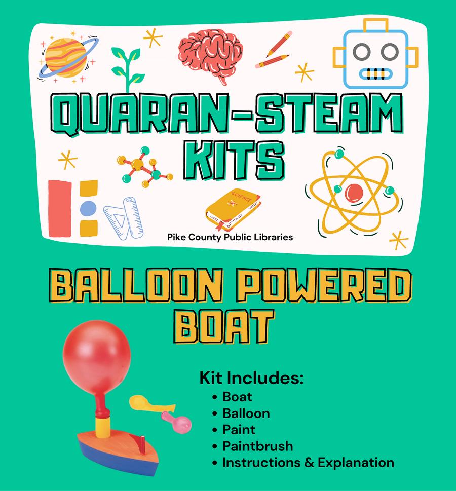 Quaran-STEAM kits balloon boat