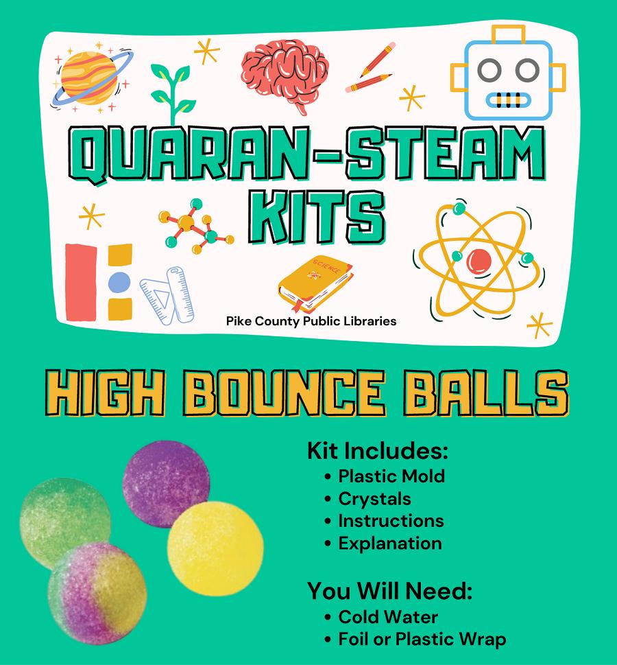 Quaran-STEAM kits bouncy balls
