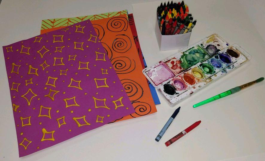 Resist DIY Rubbing Crayon Watercolor Project