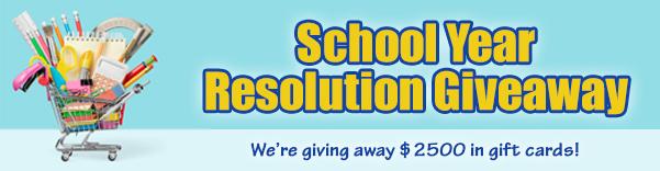 School year giveaway banner website