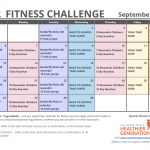 September Printable Fitness Challenge Calendar