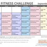 September Printable Fitness Challenge Calendar