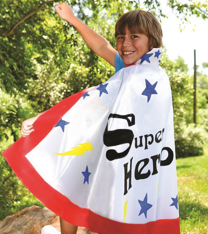Summer camp superhero capes