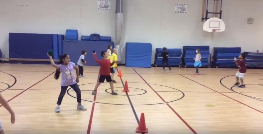 overhand throwing PE activity