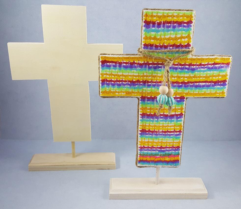 Wooden cross christian craft