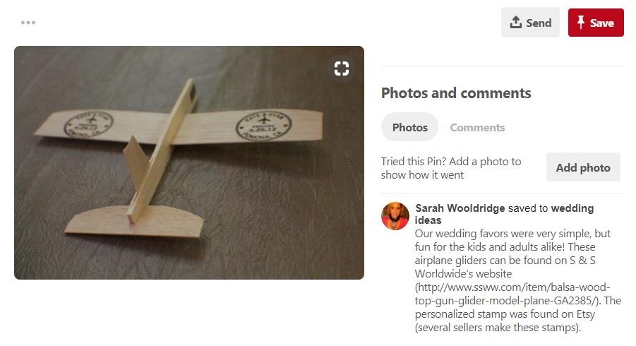 Balsa Wood Airplane Glider toy