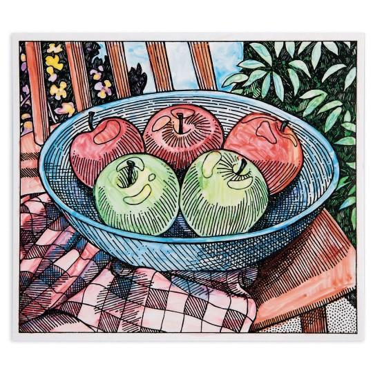 apple painting craft