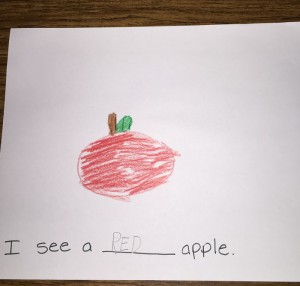 apple is red