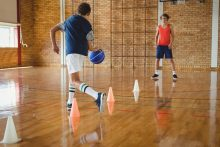 basketball dribbling lesson pe