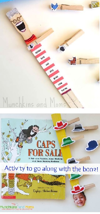 book activity with paint sticks