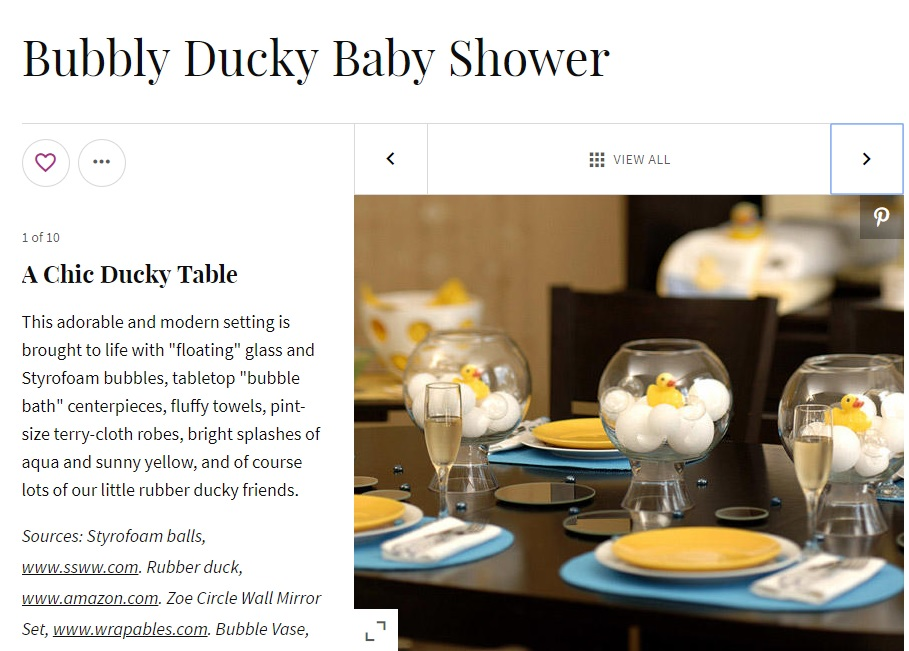 rubber ducky centerpiece