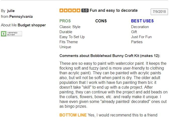 bobble head bunnies review