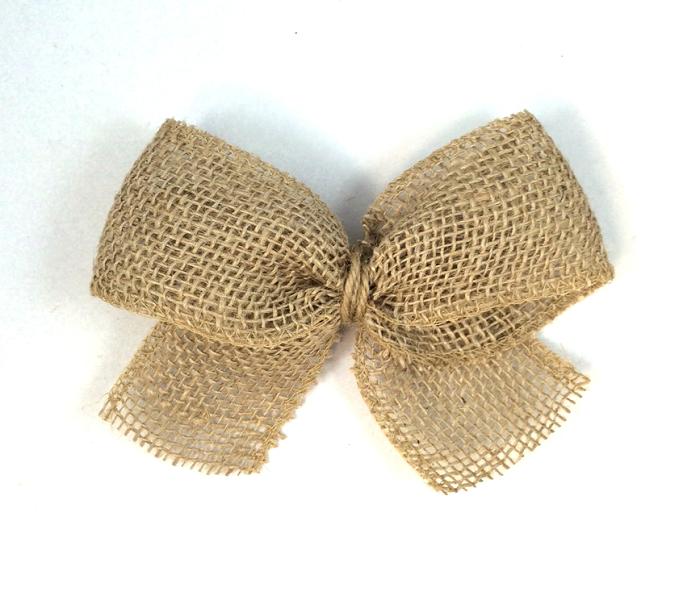 burlap bow craft tutorial