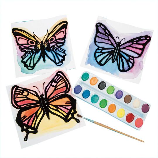 spring watercolor craft