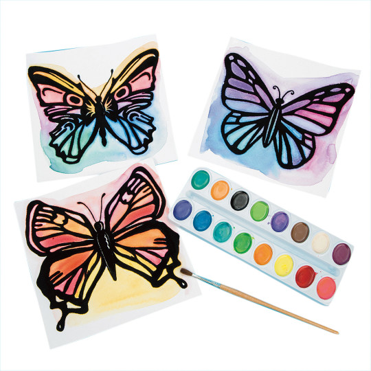 spring watercolor craft