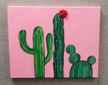 cactus canvas craft