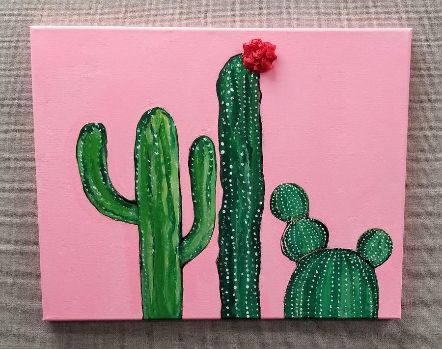 cactus canvas craft