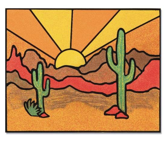 cactus sand art