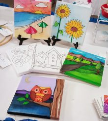 canvas painting craft