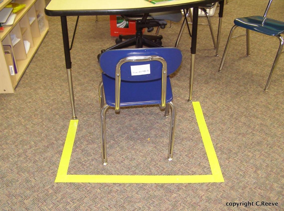 visual cues for space in classroom