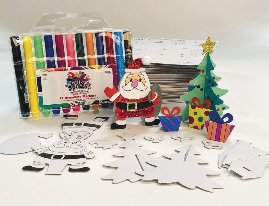 christmas tree and santa craft