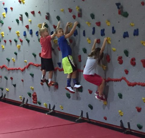 attica school climbing wall
